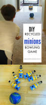diy recycled minions bowling game and minions party ideas
