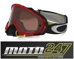 motocross goggles ebay oakley mayhem pro mx motocross goggles heritage racer red prizm