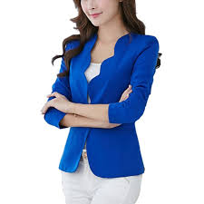 candy color slim suit jacket women casual ladies blazers female