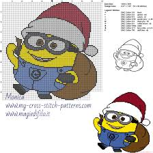 christmas minion free cross stitch pattern free cross stitch