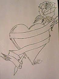 heart and rose tattoo design by ralmproductions on deviantart
