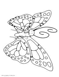 coloring page of the butterfly with the long proboscis