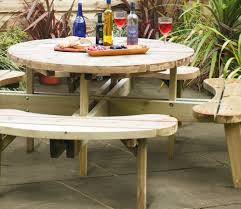 round picnic table from grange garden products gardensite co uk