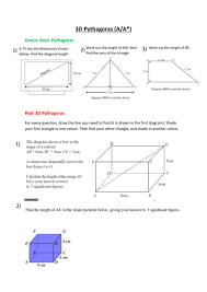 3d pythagoras ppt and worksheet by karina vh teaching resources