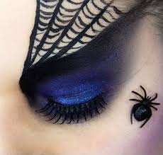 Spider Witch Halloween Makeup by Spider Web Eye Makeup Green And Black Spider Web Beauty Eye Makeup