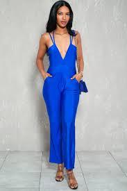 royal blue jumpsuit royal blue strappy sleeveless dressy jumpsuit