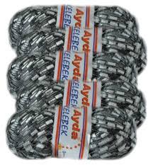 bag of 5 ayda metallic ladder yarn 1233 black u0026 white w silver