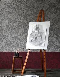 Papier Peint Fushia by Indogate Com Papier Peint Salon Rouge