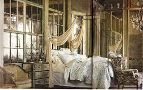 eclectic master bedroom with built in bookshelf u0026 high ceiling