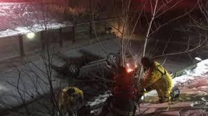 stolen car crashes onto icy pond on city u0027s west side fox59
