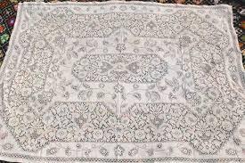 vintage cotton lace tablecloths shabby chic cottage farmhouse