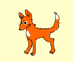 Orange Dog Meme - orange dog fox thing drawing by the meme team