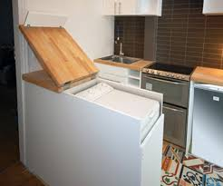 Clever Kitchen Designs Clever Kitchen Cabinet Hides Size Washing Machine