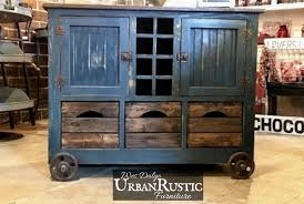 industrial style kitchen island distressed black modern rustic kitchen island cart