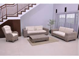 canapé en osier canapé et fauteuil en rotin tressé et tissu hevea