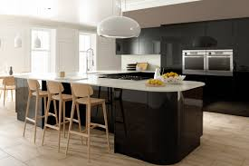 Black Gloss Kitchen Cabinets by High Gloss Kitchens