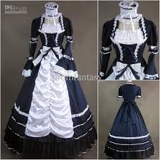2017 cheap vintage two piece long sleeves gothic victorian ball