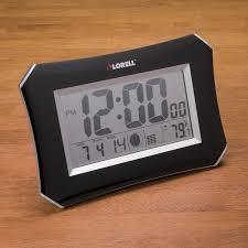lorell 60998 lcd wall alarm clock digital llr60998 wall clocks