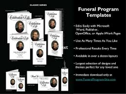 template for funeral program funeral programs templates