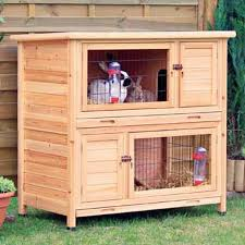 3 Storey Rabbit Hutch Trixie Natura Two Story Animal Hutch In Brown Petco