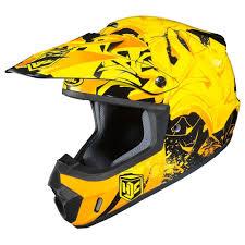 yellow motocross helmets hjc cs mx ii graffed mens dirt bike off road racing motocross