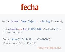 format date javascript jquery fecha javascript date formatting and parsing library date format