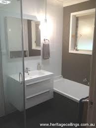 Feature Wall Bathroom Ideas Pressed Metal Wall In Bathroom Home Bathroom Pinterest