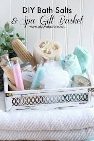 spa basket ideas diy bath salts and spa gift basket the s day gift