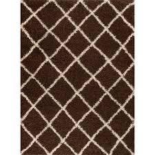 Brown And White Area Rug Rug And Decor Inc Supreme Shag Brown White Area Rug