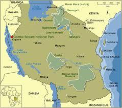 Map Of Tanzania Anna Sjodin