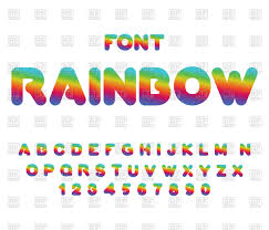 rainbow font rounded abc vector image 133461 u2013 rfclipart