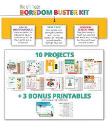 Printable Halloween Mad Libs by Summer Boredom Buster Printable Kits Capturing Joy With Kristen Duke