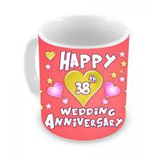 38th wedding anniversary 38th wedding anniversary gift coffee mug