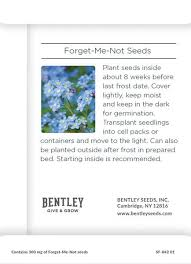 forget me not seed packets growing houses into homes seed packet bentley seeds