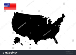 United States Of Anerica Map by United States America Map Flag Vector Stock Vector 560452105