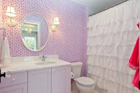 Shabby Chic Style Wallpaper by S Curtains Bathroom Shabby Chic Style With Wallpaper Bathroom