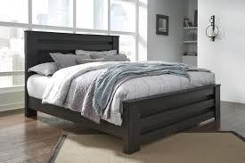 king poster bedroom set brinxton black king cal poster bed b249 66 68 99 complete