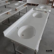 One Piece Bathroom Sinks - bathroom countertop with sink one piece this double sink vanity