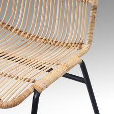 chaise tress e chaise kubu rotin et métal tressé marron boléro
