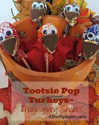 tootsie pop turkey easy thanksgiving snacks