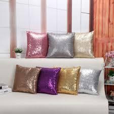 Home Decor Cushions Drop Ship Sequin Pillow Cover Sparkling Home Decor Cushion Cover