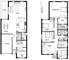 Square Floor L 2 Storey House Plans Philippines With Blueprint Story Modern