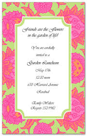 invitation to brunch wording garden blooms luncheon invitations myexpression 15249