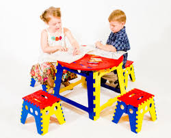 White Folding Kids Table And Chairs Set Furniture Home 4632394312 Modern Elegant New 2017 Design Kids
