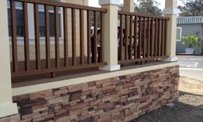 front deck designs mobile home skirting stone look diy mobile