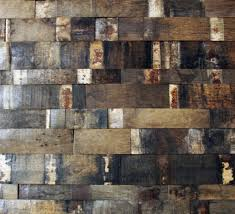 reclaimed natural oak whiskey barrel stave stacked wall panels