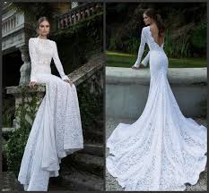 fishtail wedding dresses western style sleeve fishtail wedding gowns with lace