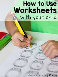 Learning How To Read Worksheets How To Use Worksheets With Your Child Mamas Learning Corner