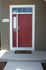 what color front door with dark gray house red brick and black