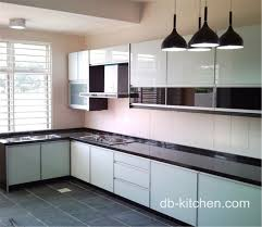 Roll Top Kitchen Cabinet Doors High Gloss Color Mixed Acrylic Kitchen Cabinet Simple Design